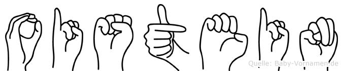 Oistein im Fingeralphabet der Deutschen Gebärdensprache