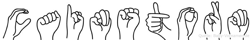 Cainstorm im Fingeralphabet der Deutschen Gebärdensprache