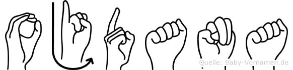 Ojdana in Fingersprache für Gehörlose
