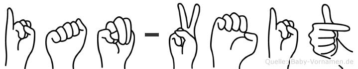 Ian-Veit im Fingeralphabet der Deutschen Gebärdensprache