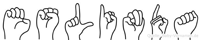 Eslinda im Fingeralphabet der Deutschen Gebärdensprache