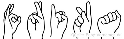 Frika in Fingersprache für Gehörlose