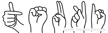 Tsuki in Fingersprache für Gehörlose
