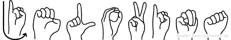 Jelovina im Fingeralphabet der Deutschen Gebärdensprache