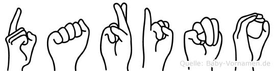 Darino im Fingeralphabet der Deutschen Gebärdensprache