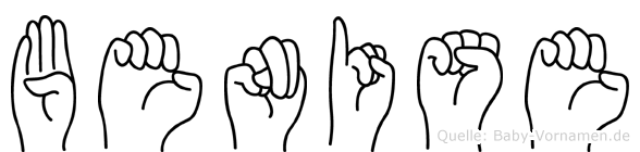 Benise im Fingeralphabet der Deutschen Gebärdensprache