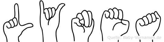 Lynea im Fingeralphabet der Deutschen Gebärdensprache