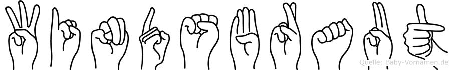 Windsbraut im Fingeralphabet der Deutschen Gebärdensprache