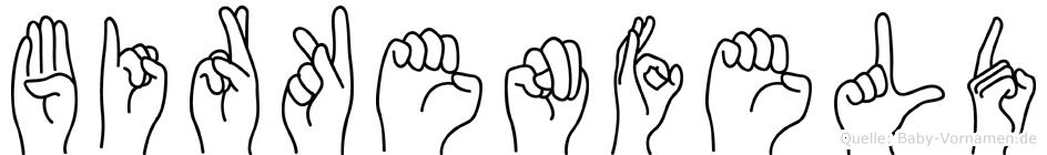 Birkenfeld im Fingeralphabet der Deutschen Gebärdensprache