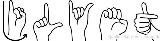 Jülyet in Fingersprache für Gehörlose