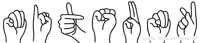 Mitsunk in Fingersprache f�r Geh�rlose