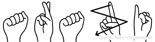 Arazi in Fingersprache für Gehörlose