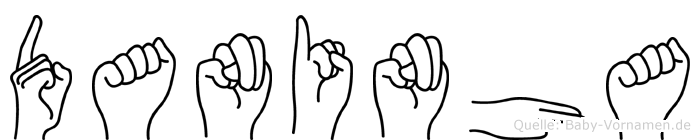 Daninha im Fingeralphabet der Deutschen Gebärdensprache