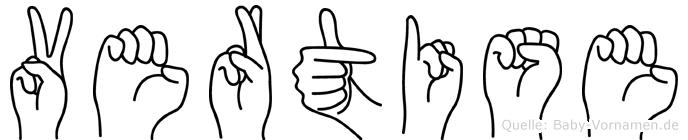 Vertise in Fingersprache für Gehörlose