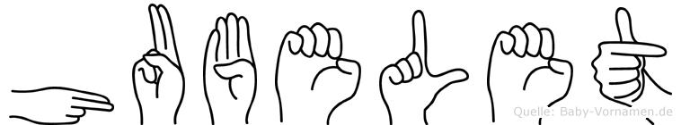 Hubelet in Fingersprache für Gehörlose