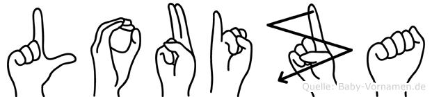 Louiza in Fingersprache für Gehörlose
