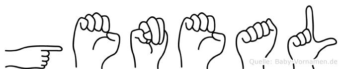 Geneal im Fingeralphabet der Deutschen Gebärdensprache