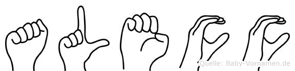 Alecc in Fingersprache für Gehörlose