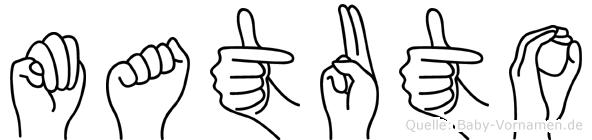 Matuto im Fingeralphabet der Deutschen Gebärdensprache