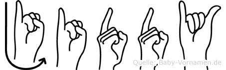Jiddy in Fingersprache für Gehörlose