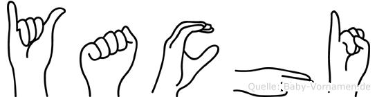 Yachi im Fingeralphabet der Deutschen Gebärdensprache
