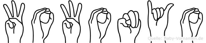 Wowonyo in Fingersprache für Gehörlose