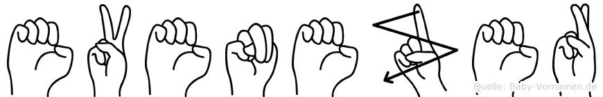 Evenezer im Fingeralphabet der Deutschen Gebärdensprache