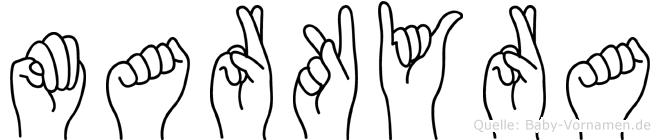 Markyra in Fingersprache für Gehörlose