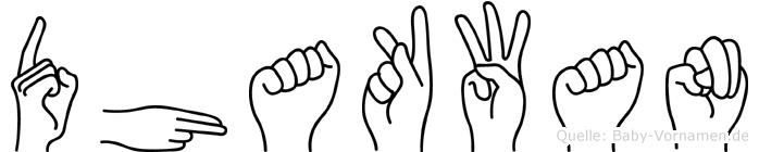 Dhakwan in Fingersprache für Gehörlose
