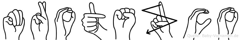 Mrotszco im Fingeralphabet der Deutschen Gebärdensprache