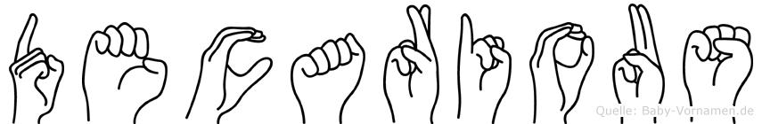Decarious in Fingersprache für Gehörlose