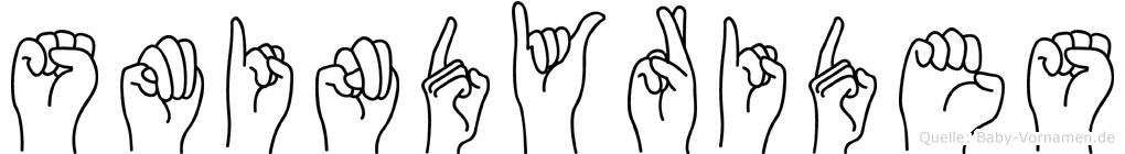 Smindyrides im Fingeralphabet der Deutschen Gebärdensprache