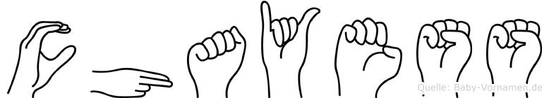 Chayess im Fingeralphabet der Deutschen Gebärdensprache
