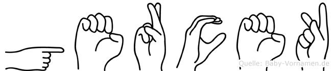Gercek im Fingeralphabet der Deutschen Gebärdensprache