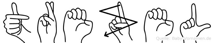 Trezel in Fingersprache für Gehörlose