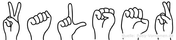 Valser im Fingeralphabet der Deutschen Gebärdensprache