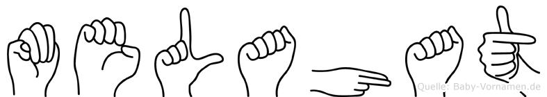 Melahat im Fingeralphabet der Deutschen Gebärdensprache