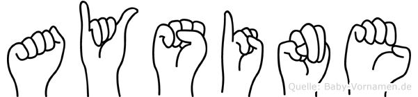 Aysine im Fingeralphabet der Deutschen Gebärdensprache