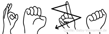 Feza im Fingeralphabet der Deutschen Gebärdensprache