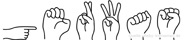 Gerwas in Fingersprache für Gehörlose