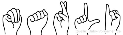 Marli im Fingeralphabet der Deutschen Gebärdensprache