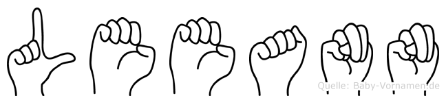 Leeann im Fingeralphabet der Deutschen Gebärdensprache