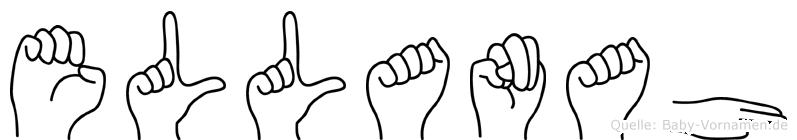 Ellanah im Fingeralphabet der Deutschen Gebärdensprache