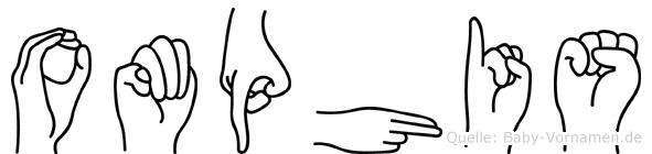 Omphis im Fingeralphabet der Deutschen Gebärdensprache