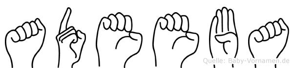 Adeeba in Fingersprache für Gehörlose