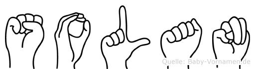 Solan im Fingeralphabet der Deutschen Gebärdensprache