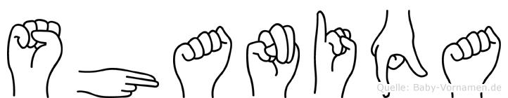 Shaniqa in Fingersprache für Gehörlose
