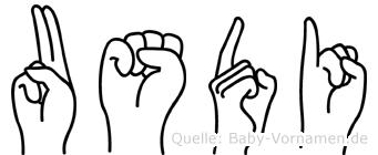Usdi im Fingeralphabet der Deutschen Gebärdensprache