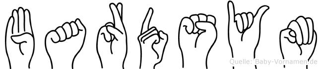Bardsym im Fingeralphabet der Deutschen Gebärdensprache