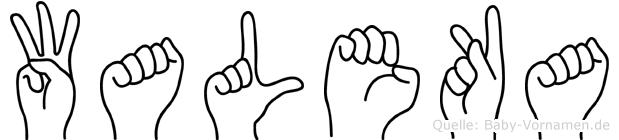Waleka in Fingersprache für Gehörlose